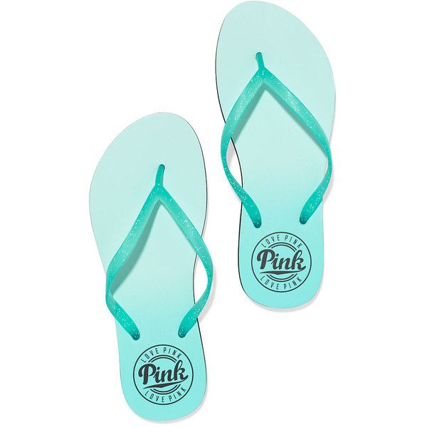 Flip Flops PINK ($15) ❤ liked on Polyvore featuring shoes, sandals, flip flops, sapatos, zapatos, victoria secret pink flip flops, pink shoes, pink flip flops, victoria secret pink shoes and pink sandals