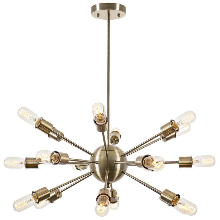 a classic starburst brings retro flair to a modern kitchen the sputnik style chandelier is - Starburst Chandelier