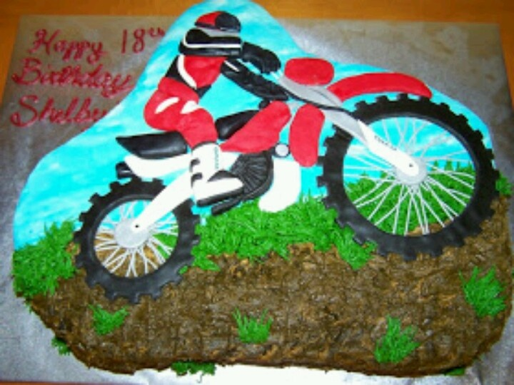 Wondrous 47 Best Dirt Bike B Day Cake Slubne Suknie Info Funny Birthday Cards Online Overcheapnameinfo
