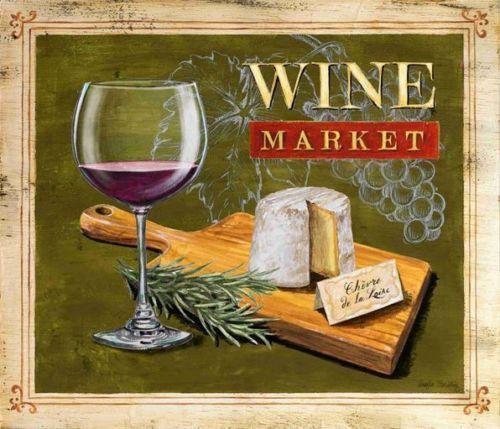 Angela-Staehling-Market-Wine-Cheese-Fertig-Bild-24x30-Wandbild-Kueche-Wein-Kaese