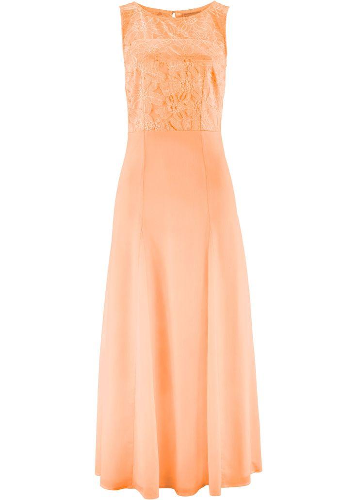 Commandez maintenant Longue robe à dentelle pêche - bpc selection premium à partir de 49,99 ? sur bonprix.fr. Robe dentelée longueur de plancher, partie ...