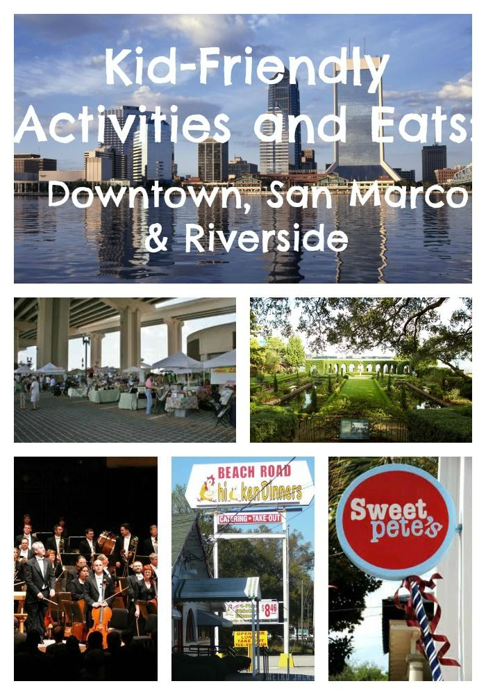 Things to do for kids downtown Jax, San Marco and Riverside!