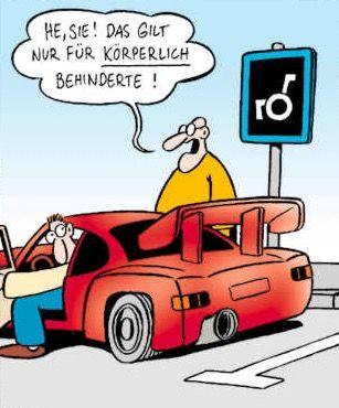 #parken auf dem behindertenparkplatz #perscheid
