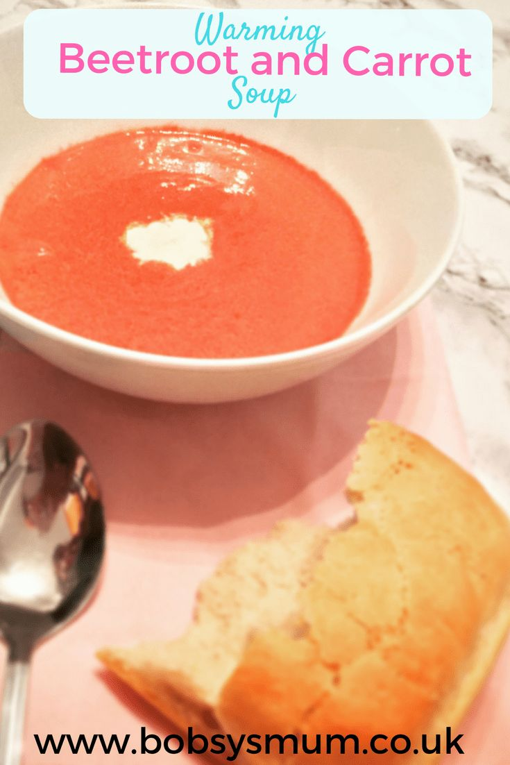 creamy Beetroot and Carrot Soup recipe. #recipe #soup