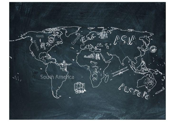 Fototapete Small travel. Large travel (English language) - originelle Wanddekoration bei bimago. Entdecken Sie Fototapeten Weltkarten: trendige Motive für Ihr Zuhause.