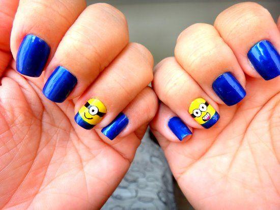Top 35 Cutest Minion Nail Art Designs | Nail Design Ideaz