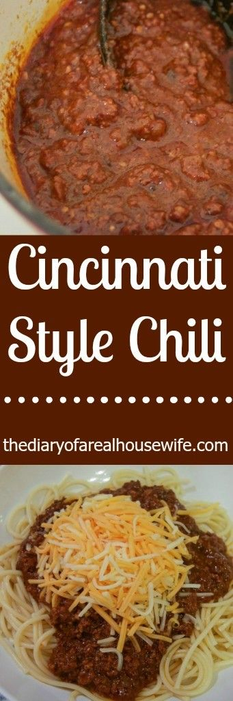 Cincinnati Style Chili. Recipe right form a cincy girl! I have to say this was a pretty close match and we LOVED it!