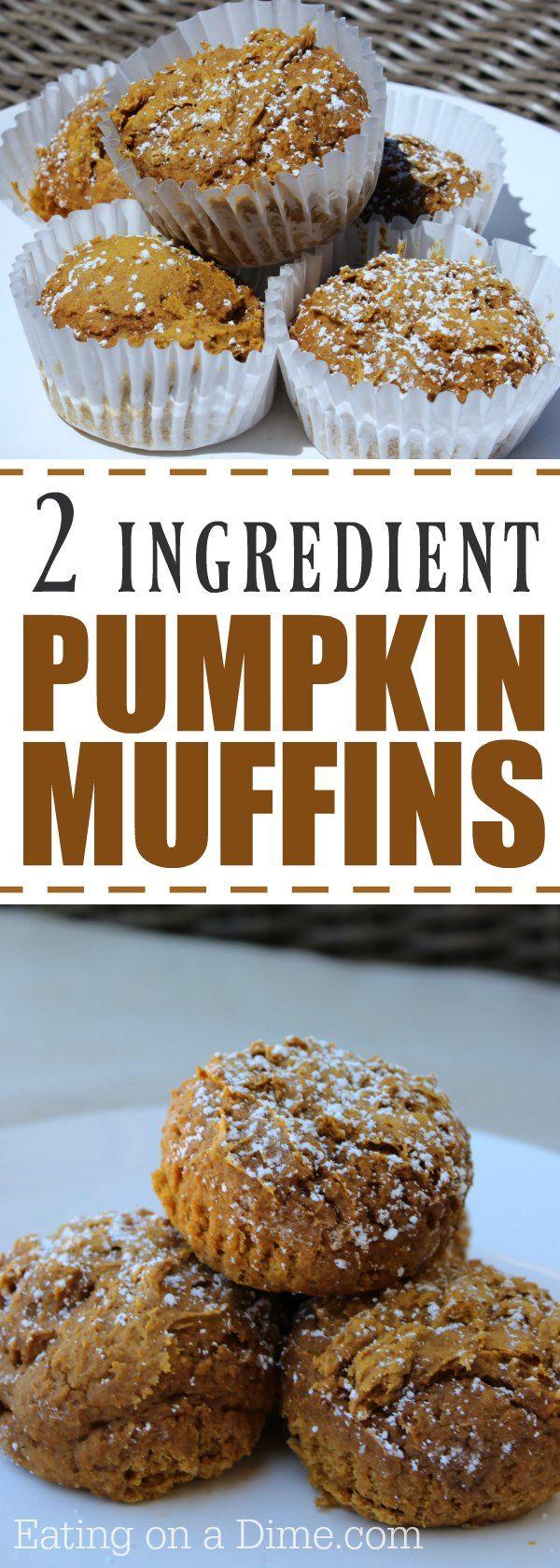 Easy fresh pumpkin muffin recipe