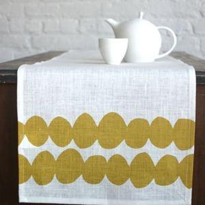 Potato Print Table Runner