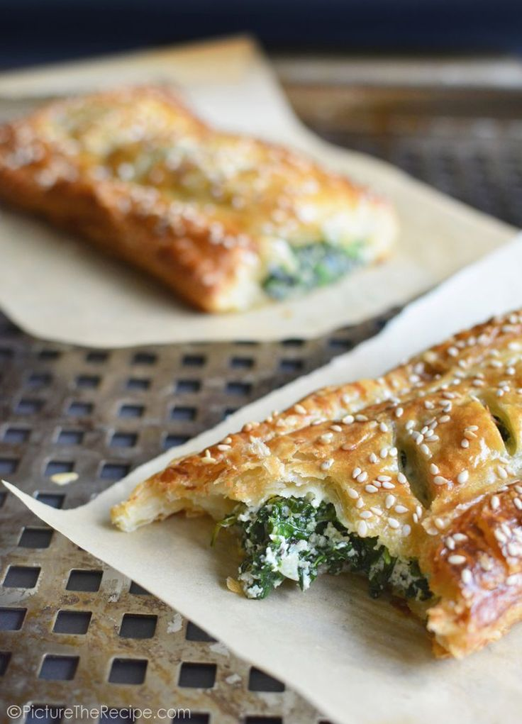 Spinach Puff Pastry Rolls with Feta and Ricotta | Picture the Recipe