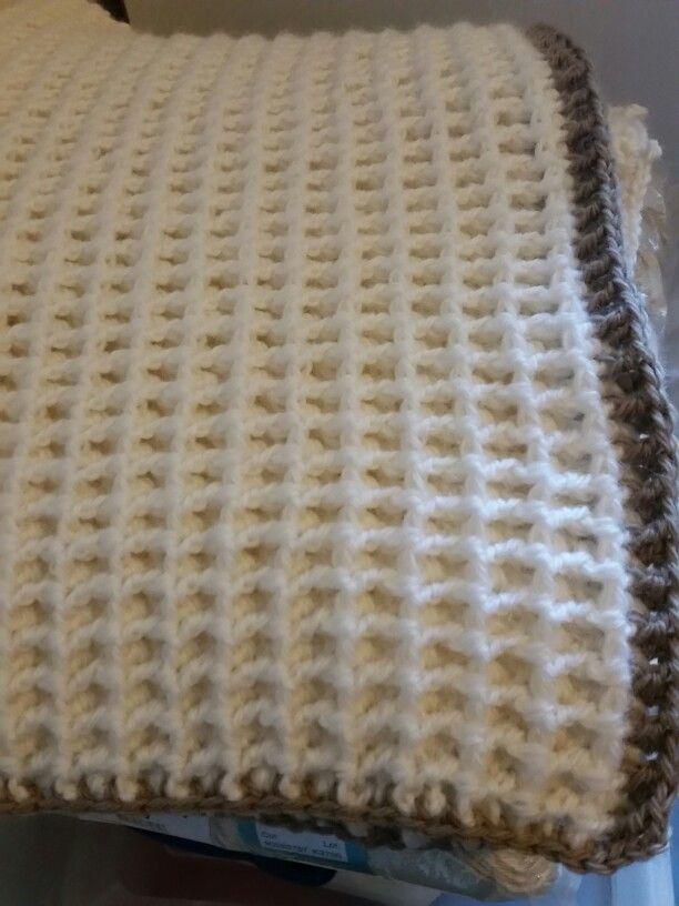 Crochet Waffle Stitch Baby Afghan