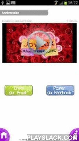 CyberCartes  Android App - playslack.com ,  Après le succès de CyberCartes.com sur le web, voici enfin son application sur Android.CyberCartes vous présente en exclusivité la 1ère application GRATUITE d'envoi de cartes de voeux au format VIDEO!Vous souhaitez partager vos émotions avec vos proches?Marquez le coup en envoyant une carte animée depuis votre appareil Android!L'application CyberCartes vous permet d'envoyer des cartes de voeux à vos amis où que vous soyez.En un clic, vous accédez à…