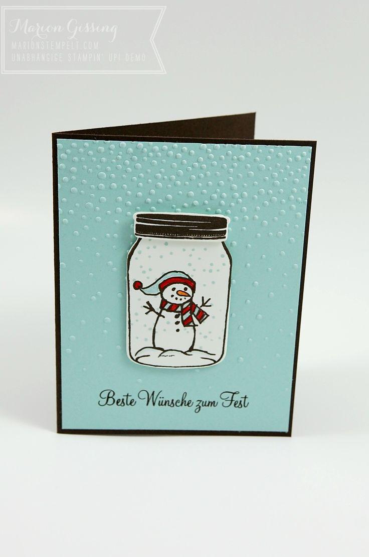 Stampin Up, Jar of cheer, Weihnachtskarte