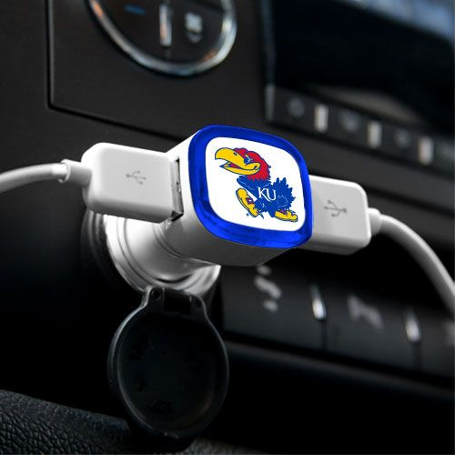 Kansas Jayhawks USB Car Charger