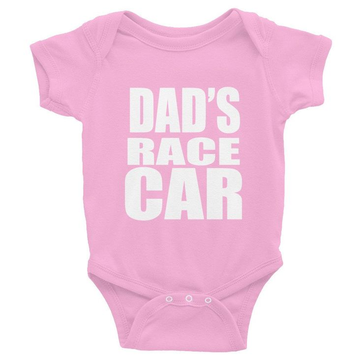 Dad's Race Car Infant short sleeve one-piece