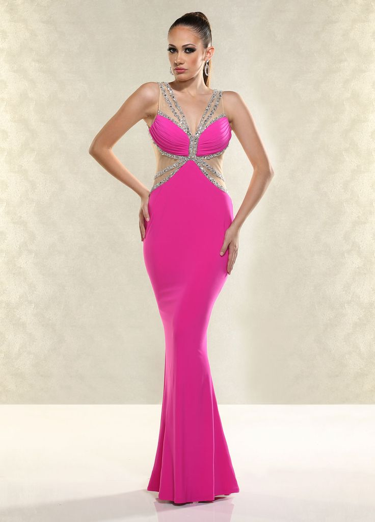 The 22 best Sleek Bright Hot Pink images on Pinterest | Party wear ...