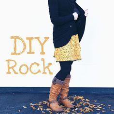 Jersey Rock mit Spitzensaum nähen . DIY Tutorial Nähanleitung GrinseStern