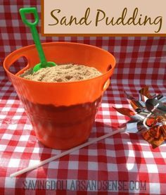 This Sand Pudding looks SO real and tastes amazing!! You will never guess what the sand is made from!
