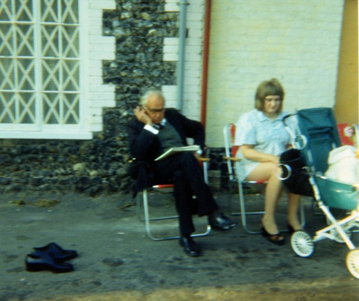 John Laurie takes on another crossword in while sitting in Nether Row, Thetford, during fi...