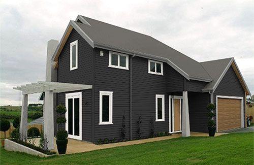 LINEA home - suggested Resene colour scheme based on Resene Fuscous Grey