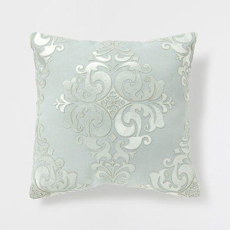 PASTEL GREEN LINEN CUSHION WITH APPLIQUÉ - Cushions - Bedroom | Zara Home Sweden