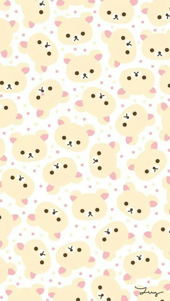 Rilakuma pattern is created by repeated by rilakkuma images