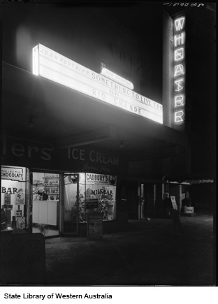 Windsor Theatre and McKays Milk bar, Nedlands, 1953 (Click to View)