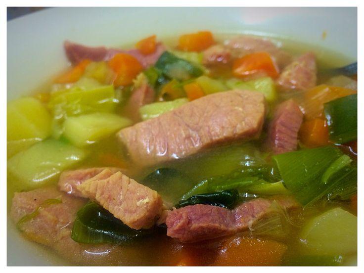 Ham and veg soup