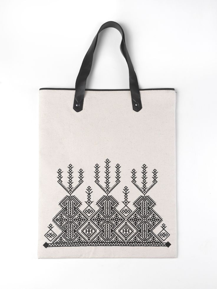 Canvas embroidered shopping bag from the @itsallgreekonme S/S2017 collection