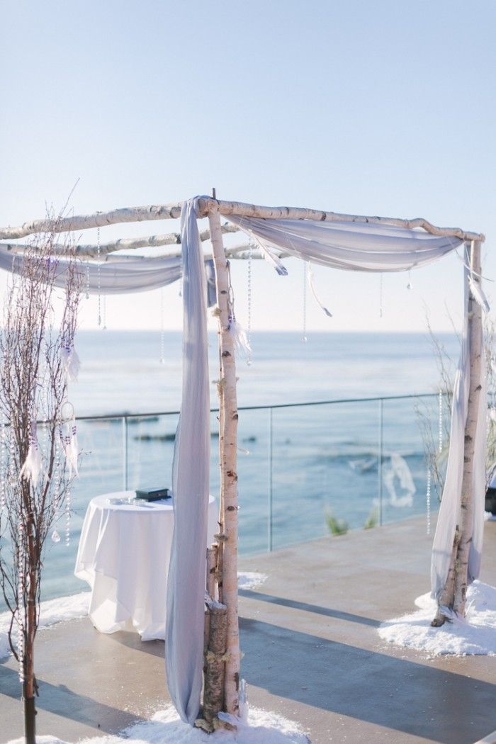 Couture Events: Kat and Michael's Bohemian Beach Winter Wonderland Wedding