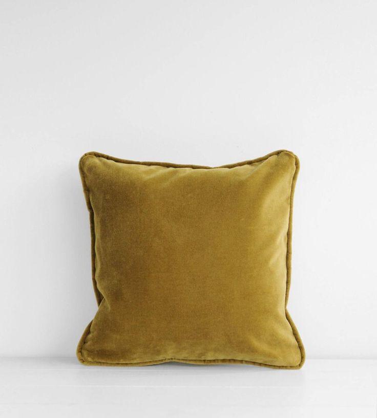 Father Rabbit  | Olive Velvet Piped Edge | 40 x 40 cm Cushion