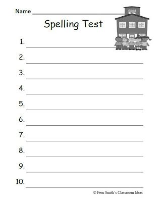 Worksheets Spelling Test Worksheets spelling test worksheets free printables 1000 images about on pinterest homework literacy and