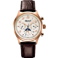 INGERSOLL UNION II Automatic Rose Gold Brown Leather Strap