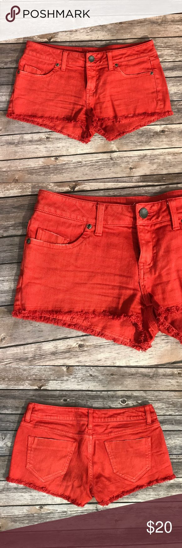 Victorias Secret Cheeky Womens Jean Shorts Red 6 Victorias Secret Cheeky Womens Jean Shorts Red Size 6 Denim Frayed. Measurements: (in inches) Waist:30 Length: 12 Inseam:2 Victoria's Secret Shorts Jean Shorts