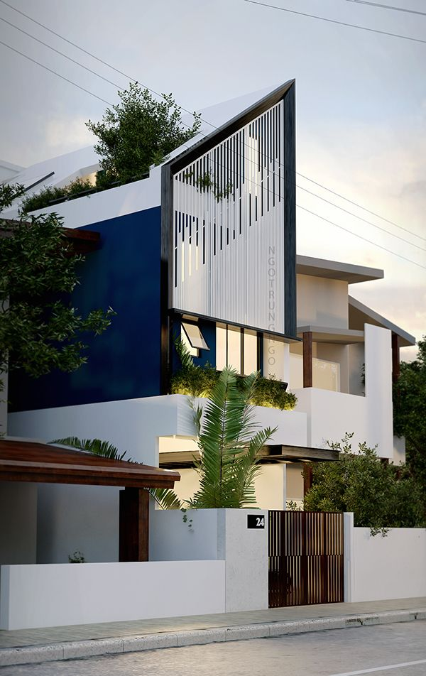 home architecture design house 4x16 on behance fachadas y exteriores 12042