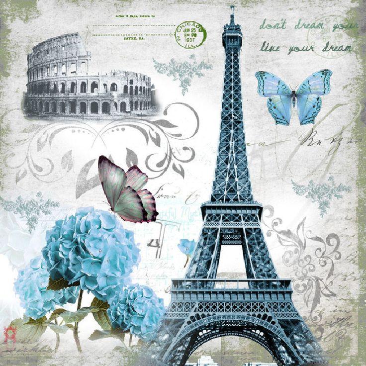 Сердечко, винтажная открытка париж