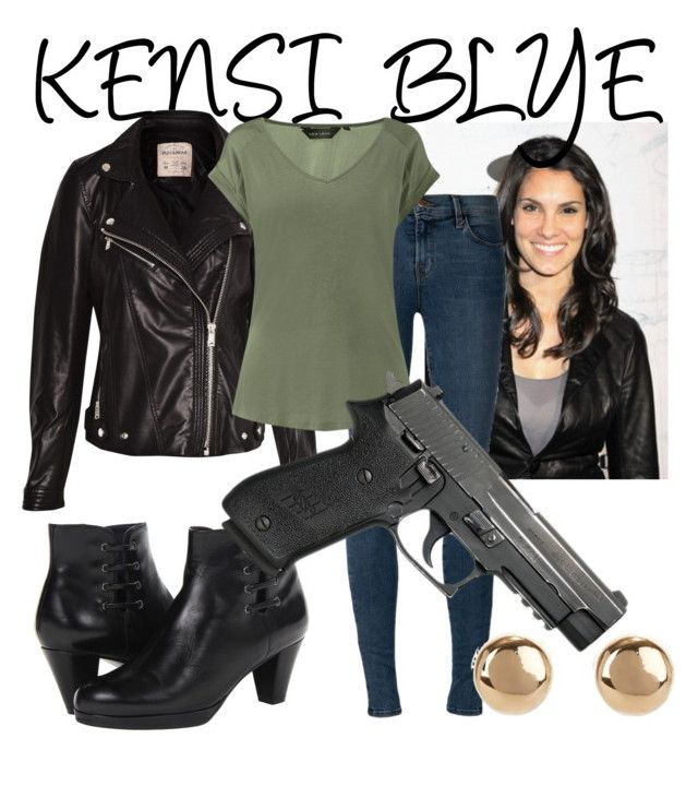 """""""KENSI BLYE OUTFIT - Kensi Blye"""" by fandom-central ❤ liked on Polyvore featuring VANELi, Pull&Bear, J Brand and Jules Smith"""