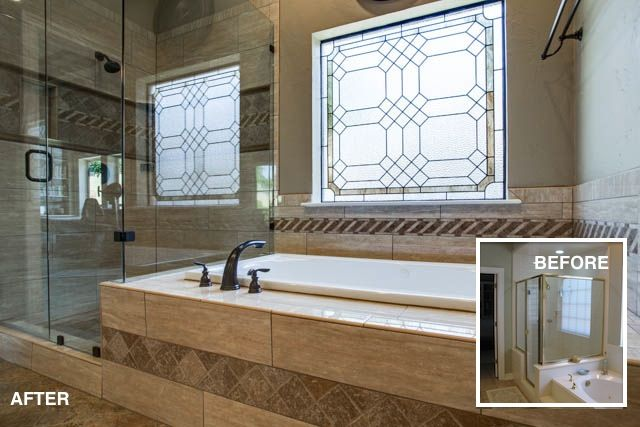 Master bath transformation mckinney tx http www for Bathroom remodel mckinney