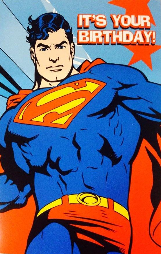 Superman Birthday Card http://partyzone.com.au/super-heroes-party-superman-c-228_240_51.html