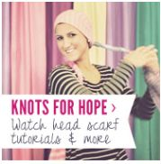 Head scarf videos and head scarf tying tutorials - Knots for Hope