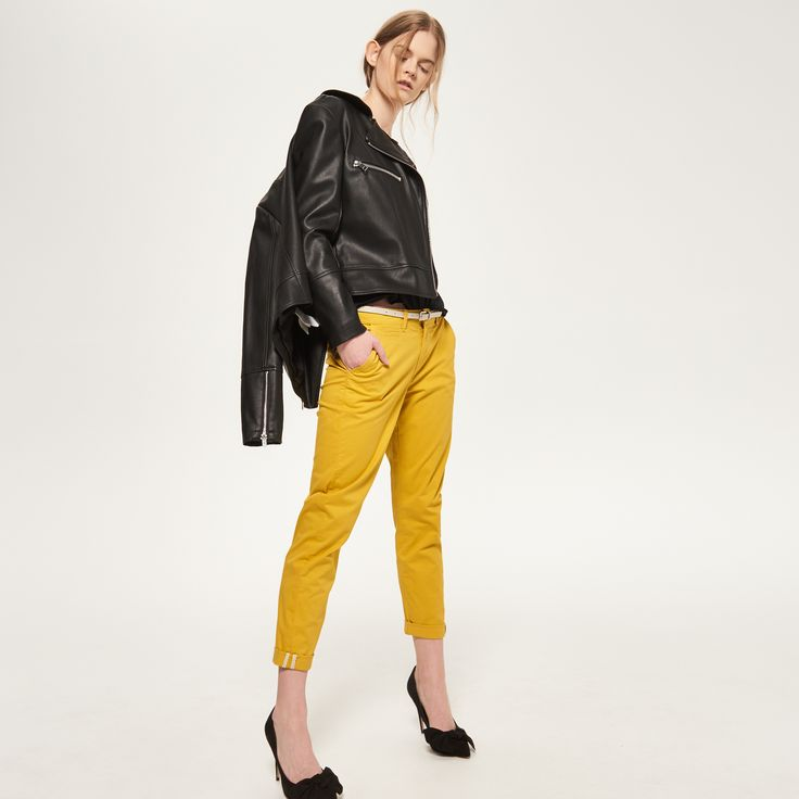 Spodnie z paskiem, RESERVED, RB618-11X