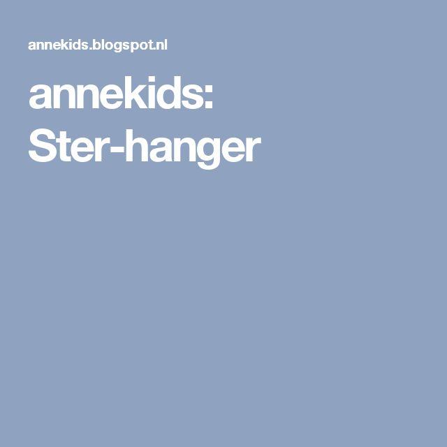annekids: Ster-hanger