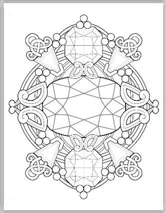 Gemstone Fantasy Coloring Book Vol I Pdf Coloring Pages For