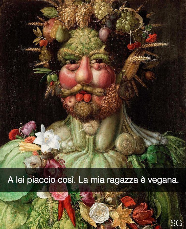 Aggiungimi su Snapchat! Nome utente: stefanoguerrera L'imperatore Rodolfo II in veste di Vertumno - Giuseppe Arcimboldo (1590) #seiquadripotesseroparlare #stefanoguerrera