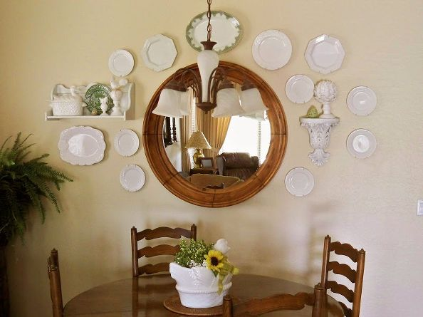 decorating with plates wall collages, design d cor, A collage with white ironstone