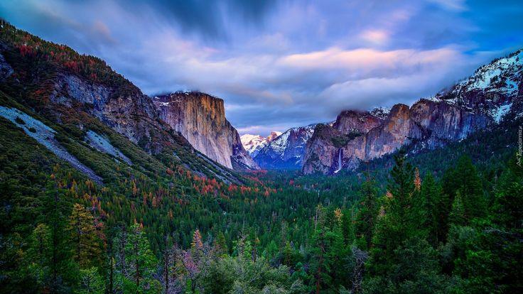 Edycja Tapety: Yosemite Valley – dolina w łańcuchu górskim Sierra Nevada