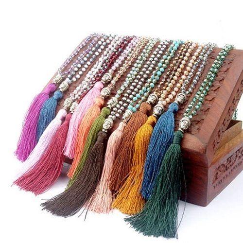 Mala, Halskette, Gebetskette, Buddha, Glasperlen - verschiedene Farben in Uhren & Schmuck, Folkloreschmuck, Asiatischer Schmuck | eBay