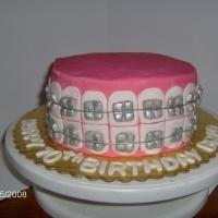 Brace Face Cake