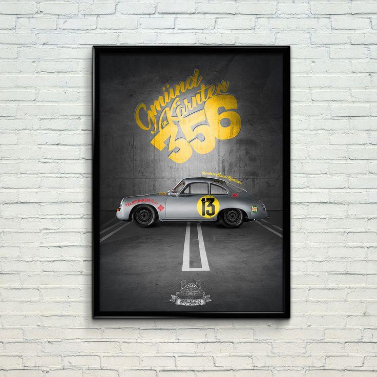 Porsche 356 poster by Car Bone. Www.car-bone.pl