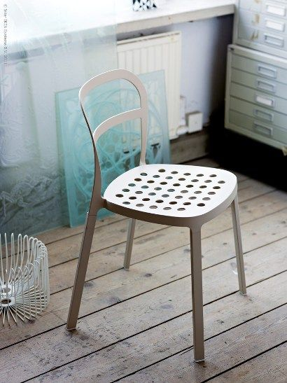 Reidar IKEA chair made from Aluminium, can be usen both indoors and outdoors